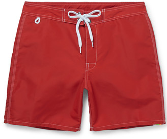 Sundek Rainbow Mid-Length Swim Shorts $120 thestylecure.com