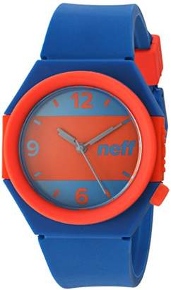 Neff Quartz Plastic and Silicone Casual WatchMulti Color (Model: NF0225)