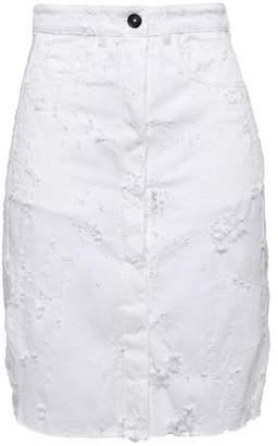 Ann Demeulemeester Norwood Distressed Denim Skirt