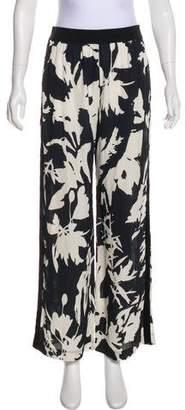 Fuzzi High-Rise Floral Print Pants