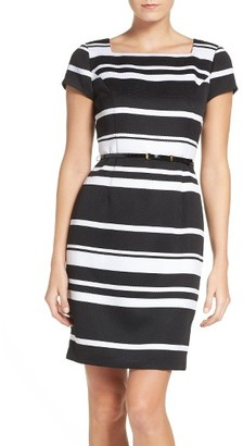 Women's Ellen Tracy Stripe Sheath Dress $128 thestylecure.com