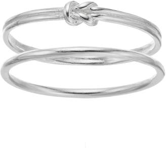 Love This Life love this life Sterling Silver Knot Ring Set