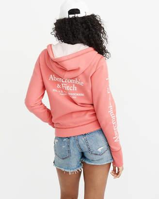Abercrombie & Fitch Logo Full-Zip Hoodie