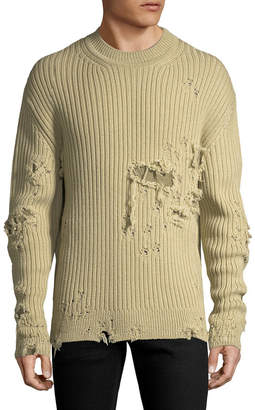 Yeezy Ribbed Distressed Sweater