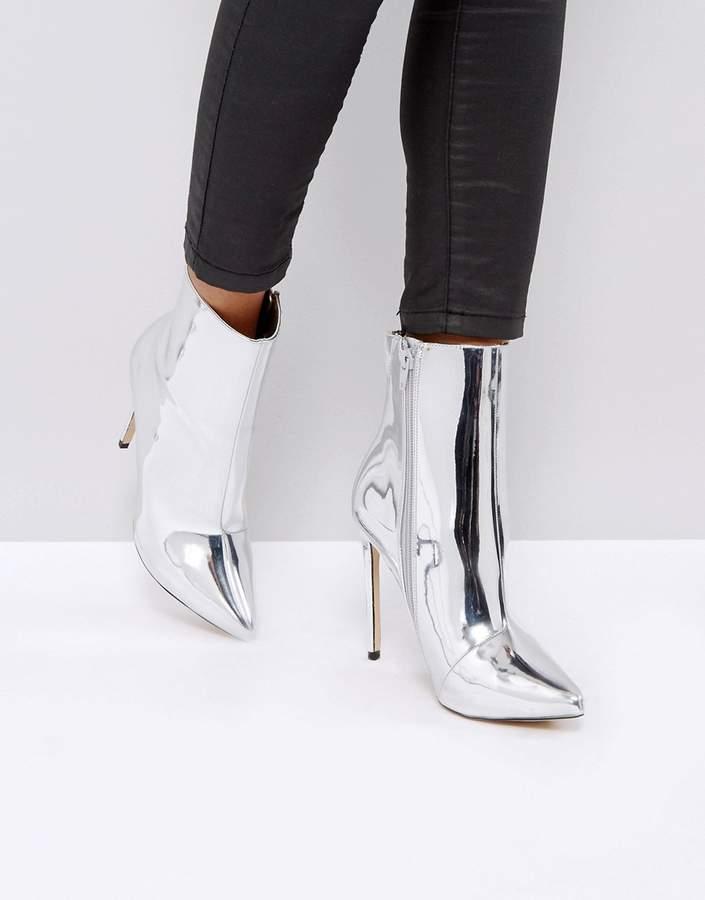 ALDO Loreno Metallic Point Ankle Boots