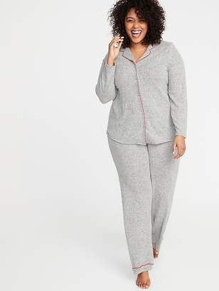 Old Navy Plush-Knit Plus-Size Pajama Sleep Set