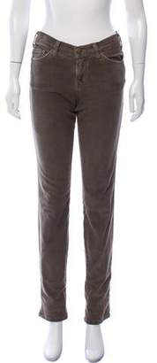 Current/Elliott Corduroy Mid-Rise Jeans