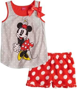 Disney Disney's Minnie Mouse Girls 4-8 Polka-Dot Tank Top & Plush Shorts Set
