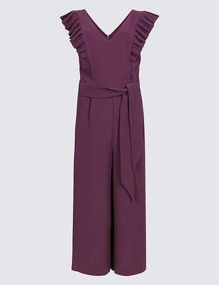 Marks and Spencer Culotte Frill Sleeve Jumpsuit
