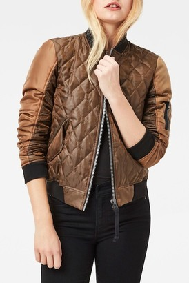 G-STAR RAW Rackam Hybrid Quilted Cropped Bomber