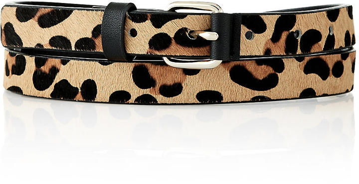 The Limited Leopard Haircalf Skinny Belt