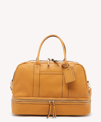 Sole Society Women's Mason Weekender Vegan Leather In Color: Mustard Bag From