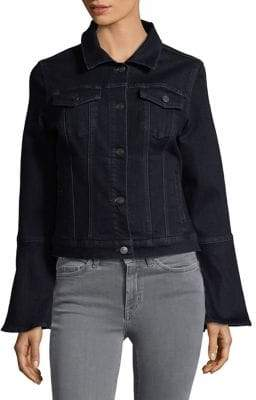Lord & Taylor Denim Bell-Sleeve Jacket