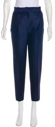Celine Wool & Silk High-Rise Straight-Leg Pants