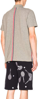 Thom Browne Relaxed Fit Pique Polo
