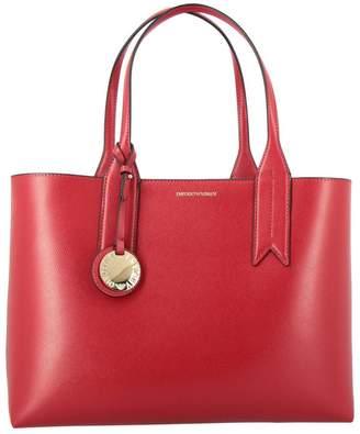 Emporio Armani Handbag Shopping Bag In Synthetic Leather With Logo
