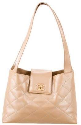 Chanel Iridescent Quilted Caviar Tote