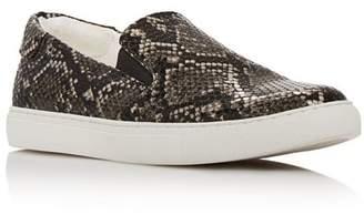 Kenneth Cole Women's Kam Snake-Print Slip-On Sneakers