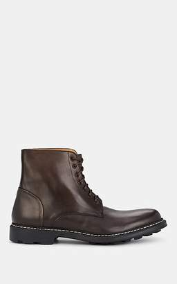 Barneys New York MEN'S LUG-SOLE LEATHER BOOTS - BROWN SIZE 7 US