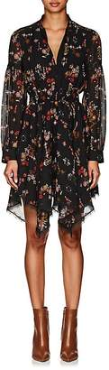 Derek Lam 10 Crosby Women's Floral Silk Georgette Handkerchief-Hem Dress