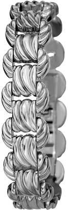 Bruno Magli Textured Link Bracelet, Silvertone