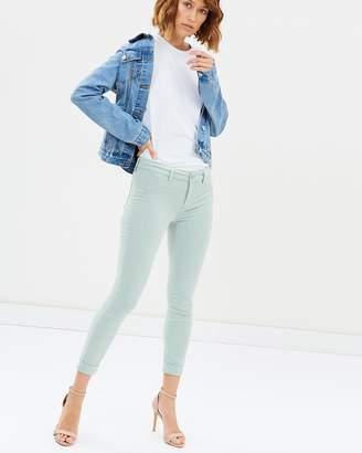 J Brand Anja Cuffed Cropped Skinny Jeans