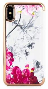 Ted Baker Babylon Nickel Mirror Folio iPhone XS Max Case