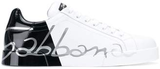 Dolce & Gabbana contrast panel sneakers