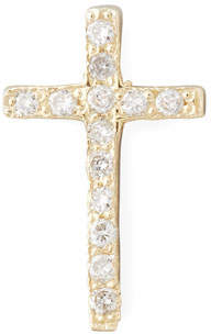 Chicco Zoe One Pave Diamond Gold Cross Stud Earring