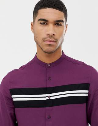 Asos Design DESIGN regular fit viscose shirt with tape