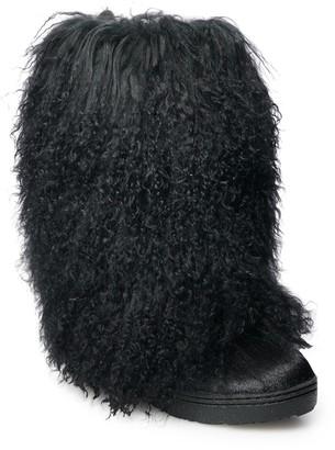 BearPaw Boetis II Women's Curly Lamb Boots