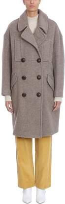 Isabel Marant Etim Taupe Wool Coat
