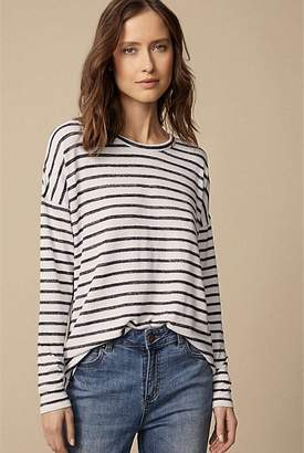 Witchery Stripe Drop Shoulder Top