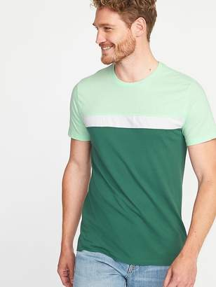 Old Navy Soft-Washed Color-Block Crew-Neck Tee for Men