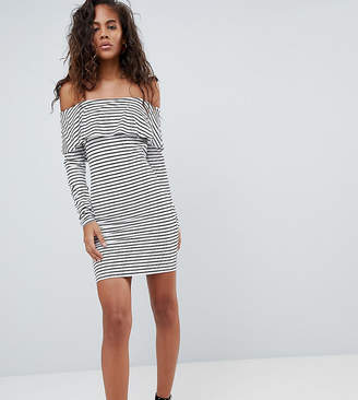Bardot Asos Tall ASOS DESIGN Tall long sleeve bodycon dress in stripe