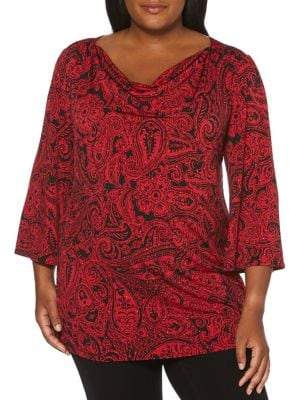 Rafaella Plus Paisley Printed Tunic