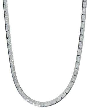 Lord & Taylor Band Sterling Silver Chain Necklace