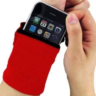 ONLINE Unisex Zipper Wrist Sweat Band Wrist Wallet For Key Money Card Coin Storage