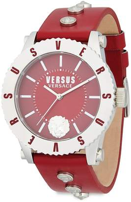 Versace Women's Lion Head Leather-Strap Watch