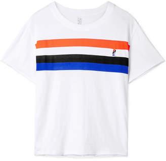 P.E Nation Middle Distance Striped Cotton-jersey T-shirt