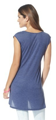 Xhilaration Juniors High Low Muscle Tee - Assorted Colors