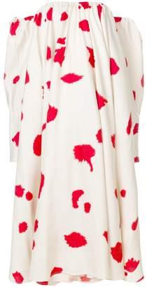 Calvin Klein printed off the shoulder dress