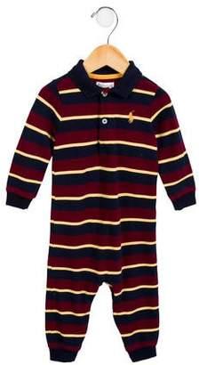 Ralph Lauren Boys' Striped Knit All-In-One