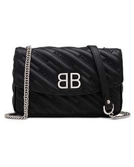 Balenciaga Bb Reporter Chain Leather Wallet