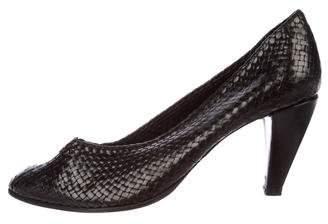 Stephane Kelian Leather Pointed-Toe Pumps
