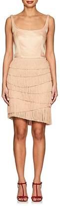 Martin Grant Women's Fringed Cotton-Silk Minidress
