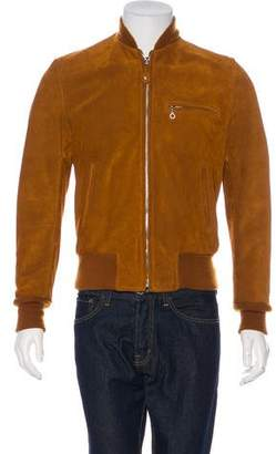 Schott NYC Perfecto Brand by Suede Bomber Jacket