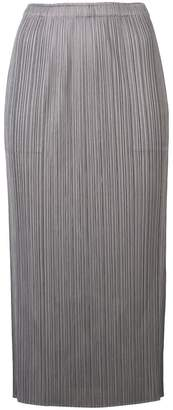 Pleats Please Issey Miyake mid-lenght pleated skirt