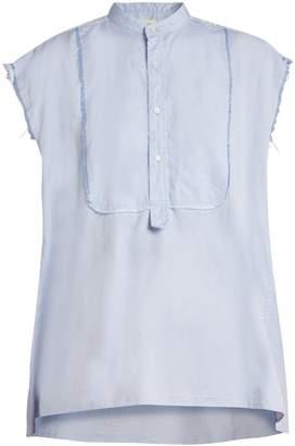 Nili Lotan Elise frayed edge cotton shirt