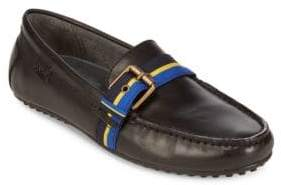 Polo Ralph Lauren Wessel Grosgrain-Strap Leather Loafers
